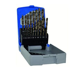 Tivoly 19 Pieces Hss Cobalt E Tc Series Drill Bit Set 1 To 10mm(0.5mm)