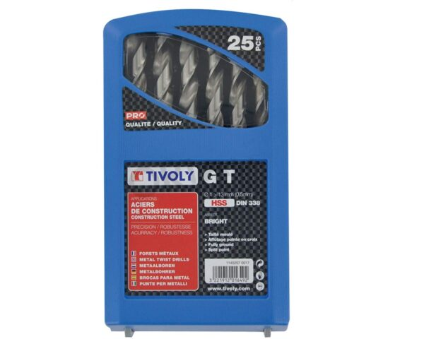 Tivoly Professional Metal Drill Bits 25 Pcs Gt Series