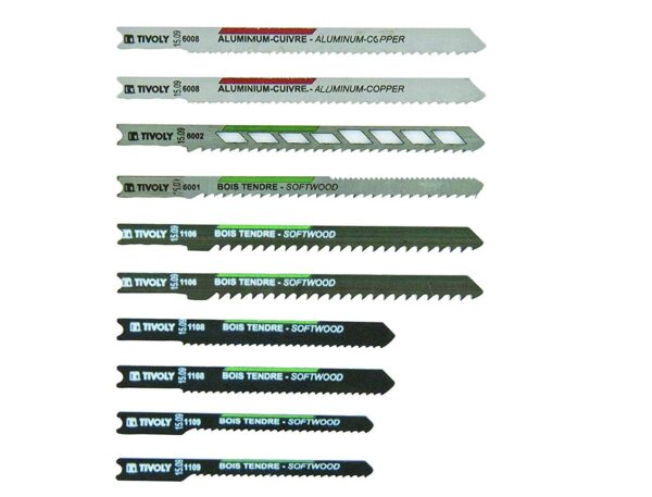Tivoly Saw Blades Set Of 10 Pieces