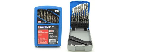 Tivoly Professional Metal Drill Bits 19 Pcs Et Series