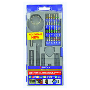 Tivoly 11501570041 32Pcs Smartphone Open & Repair Kit, Grey