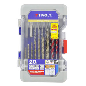 Tivoly Ranger Case T20 Mixed Drilling Metal, Wood, Concrete,Tiles, Ceram 20 Piece Set