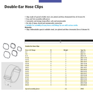 Double Ear Hose Clips