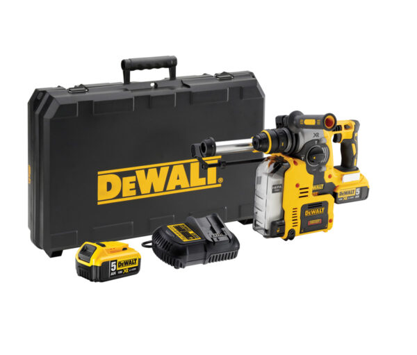 DEWALT DCH275P2-GB XR LI-ION BRUSHLESS CORDLESS HAMMER W/DUST EXTRACTOR; 3 MODES; 4AH; 1200RPM; 220V