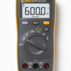 FLUKE 107 PALM-SIZED DIGITAL MULTIMETER – 600V, AC/DC