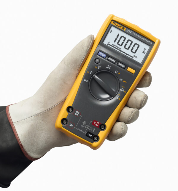 FLUKE 177 TRUE RMS DIGITAL MULTIMETER, 1000V AC/DC VOLTAGE