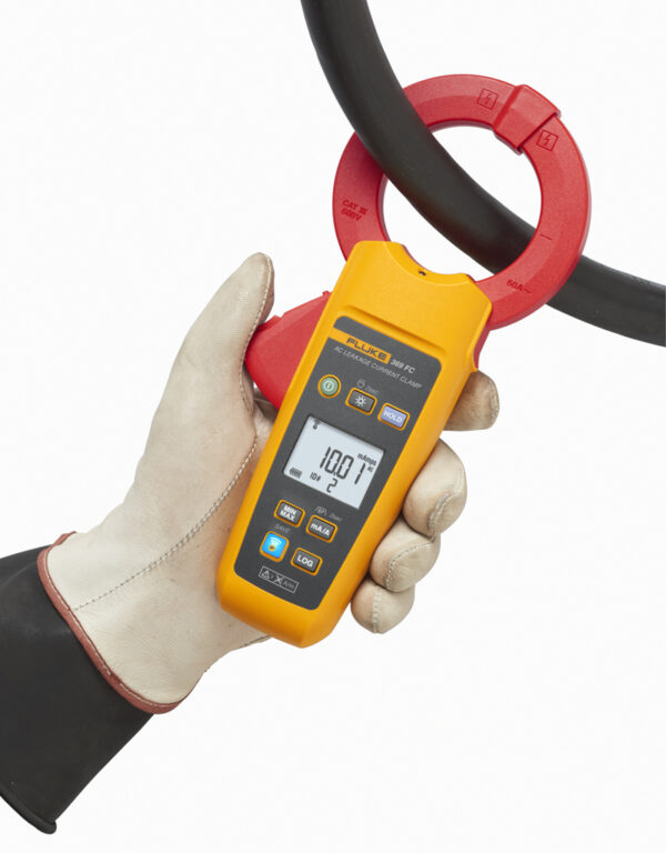 FLUKE 369FC LEAKAGE CURRENT CLAMP METER 60MM JAW – 60A / FC