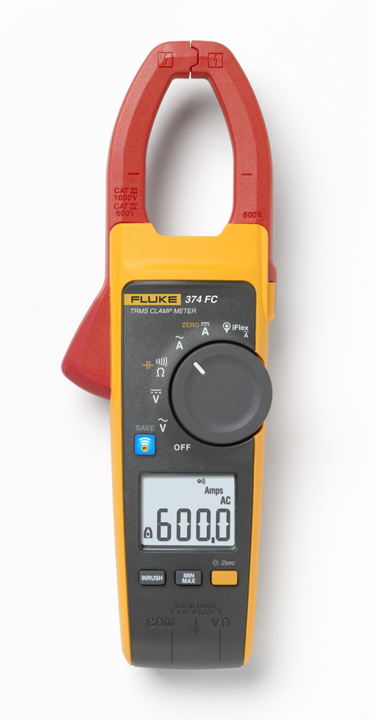 FLUKE 374FC TRUE RMS CLAMP METER 600 A (1000V)